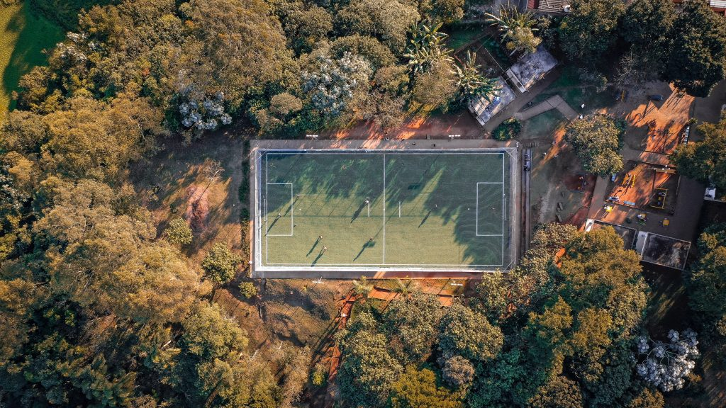 tropical football pitch