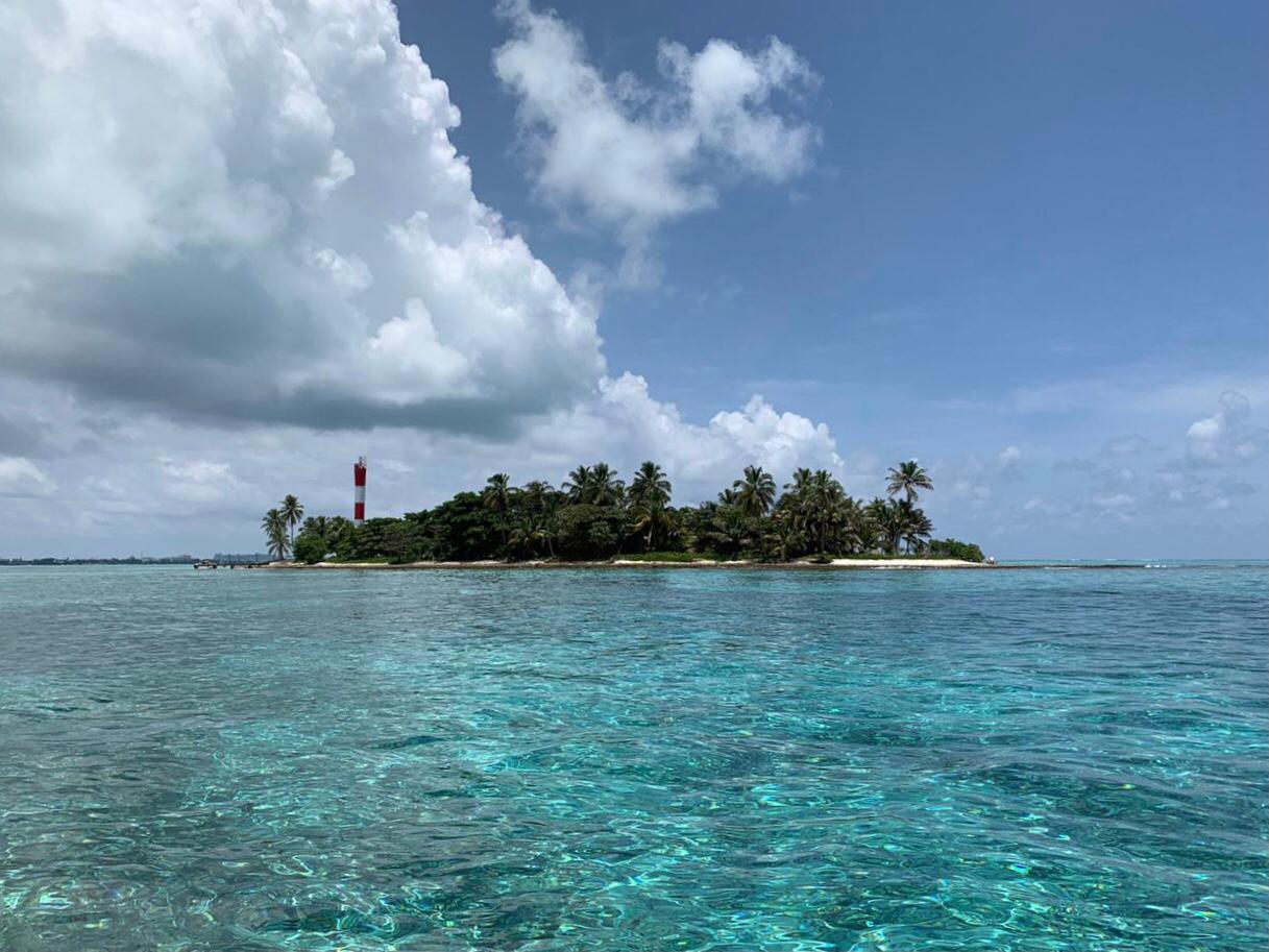 San Andres archipelago before hurricane Iota