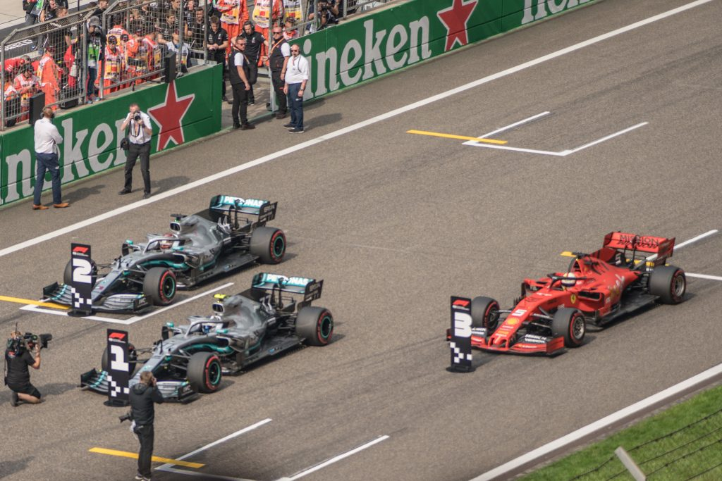 Motorsport - Formula One on grid