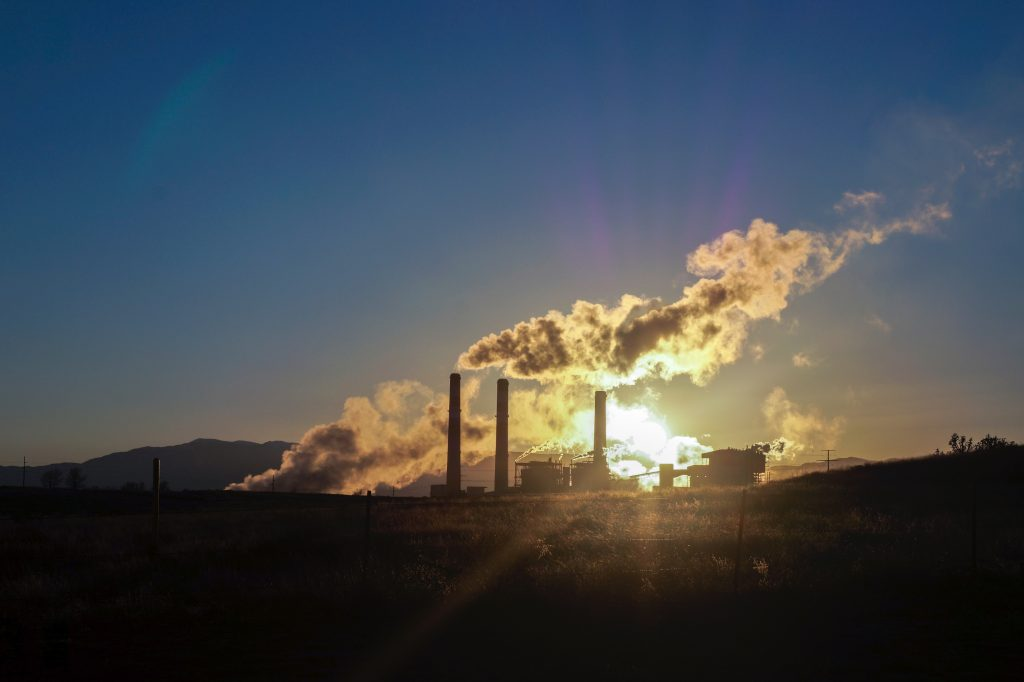 pollution from plants cause global warming
