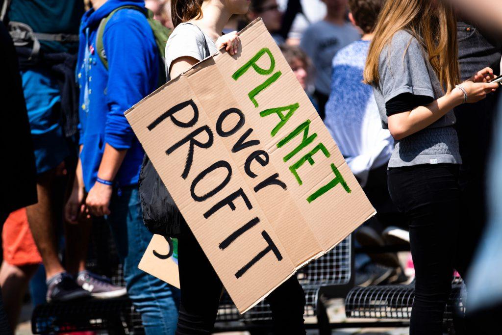 Protestors for more ambitious climate pledges